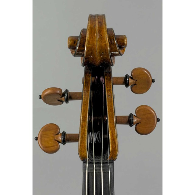 "Photo of 16 7/16"" Strad model viola scroll front"